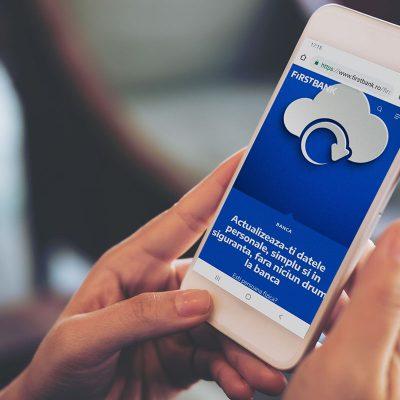 First Bank le asigură clienților posibilitatea de a-și actualiza datele personale online, direct pe site-ul băncii